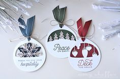 Layered Christmas Cuts Tags by Amy Sheffer for Papertrey Ink (November 2016)