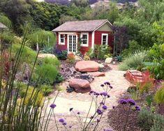 16 garden shed design ideas for you to choose from Home Design, Shed Design, Garden Design, Design Ideas, Garden Shed Kits, Home And Garden, Garden Cottage, Dream Garden, Garden Tools