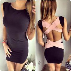 Sexy Club Dress 2016 Open Back Bandage Dress Evening Party Casual Women Mini Fashion Clothing
