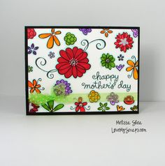the Lawn Fawn blog: pretty flowers by Melissa