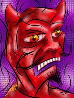 Devil Man - An Abstract piece  by B.C. Smith 2013 - Created In #procreateapp