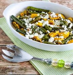 Easy Roasted Baby Summer Squash with Feta and Thyme (Low-Carb, Gluten-Free)  [from KalynsKitchen.com]