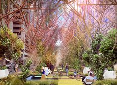 GADs park proposal presents tree-like forms which adapt to new yorks urban setting | Netfloor USA