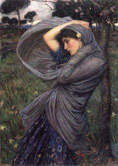 Jhon William Waterhouse ( 1849-1917 )イギリス ラファエル前派 ボレアス 1902 Oil on canvas…