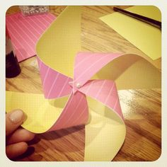 #DIY: Pinwheels. Step-by-step instructions from Simply Sunstar to make these easy and stunning pinwheels.
