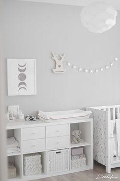 Baby nursery grey, ikea baby room, baby room storage, grey white nursery, r Baby Bedroom, Baby Boy Rooms, Baby Boy Nurseries, Baby Room Decor, Kids Bedroom, Ikea Baby Room, Room Baby, Nursery Room, Baby Room Grey