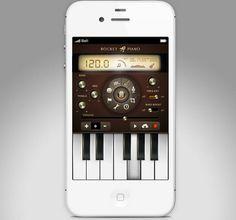 Rocket Piano UI design & concept for app. by Isabel Aracama, via Design Mobile App Design, Mobile Ui, Material Design, Iphone Ui, Ui Design Inspiration, Design Ideas, Music App, Applications, User Interface Design