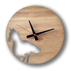 Horse Wall Clock from honeybee Kyle Roddenby   Blue Caravan Ethical Design Market