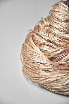 A hint of rose gold OOAK - Silk tape yarn Lace weight - SUMMER EDITION | DyeForYarn
