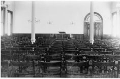 Tupper Hall (Old), interior of lecture hall. It was demolished to make way for Alden Library. :: Ohio University Archives