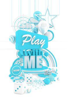 typographme: Marcus Stiller - 3D Typography Design Modelling #3D #design #poster