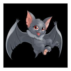 Shop Cute animated Bat Poster created by Personalize it with photos & text or purchase as is! Cute Bat, Cute Characters, Fictional Characters, Wine Charms, Custom Posters, Photo Cards, Custom Framing, Super Cute, Vibrant