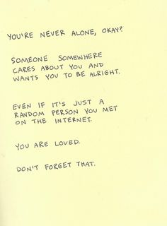 le love blog.....  never alone quote love via weheartit, http://weheartit.com/entry/29893859