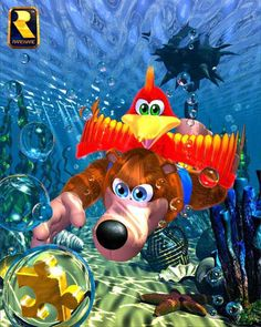 Banjo Kazooie- I loved the Banjo Kazooie and Tooie games. They were so different and goofy,but in a good way. I loved the creativity of all the levels and all the different characters you would meet. Banjo Tooie is still one of my favorite games of all time. I played through it like 5 times!