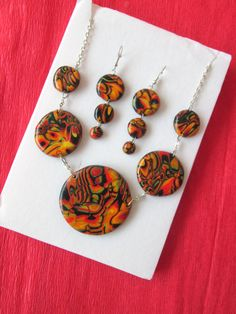 polymer clay jewelry polymer clay fashion style gift for her christmas by FloralFantasyDreams on Etsy Hair Jewelry, Jewelry Gifts, Unique Jewelry, Christmas Gifts For Mom, Christmas Christmas, Gifts For Wife, Gifts For Her, Love Necklace, Polymer Clay Earrings