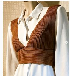 Knitwear Fashion, Crochet Fashion, Crochet Clothes, Diy Clothes, Norwegian Knitting, How To Purl Knit, Ribbed Sweater, Knitting Designs, Fitness Fashion