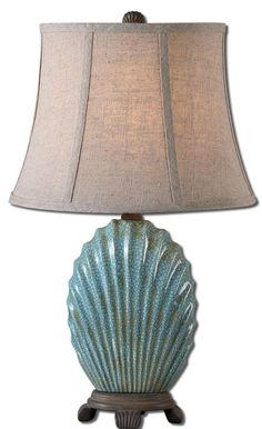 Uttermost 29321 Seashell Table Lamp Crackled Blue Lamps Table Lamps