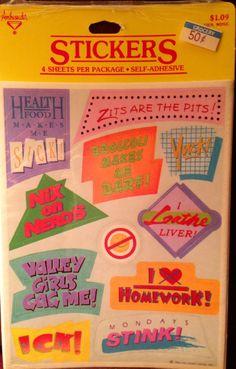 Health Food Vintage Stickers 1980's Stickers Retro by MetzlisLight, $4.95