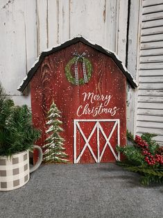 Christmas barn sign, Christmas painting on pallet wood, Farmhouse Merry Christmas sign, Christmas tree with snow – Christmas Ideas Diy Christmas Light Decorations, Christmas Wood Crafts, Pallet Christmas Tree, Christmas Towels, Christmas Signs Wood, Christmas Projects, Christmas Diy, Vintage Christmas, Country Christmas