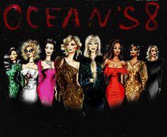 Ocean's 8 art! Ocean's Eight, Oceans 8, Anne Hathaway, Cate Blanchett, Film Serie, Tim Burton, Rihanna, Peplum Dress, Movies