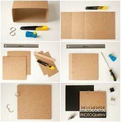 Un lbum de fotos personalizado album and manualidades - Hacer un album de fotos casero ...