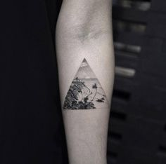 Cliffside Landscape Tattoo by Balazs Bercsenyi