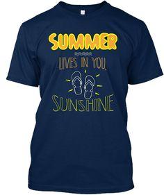 Summer T Shirt Navy T-Shirt Front