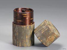 cherry woodcraft tea canister
