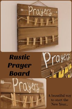 This prayer board is a beautiful way to visualize your prayers! It makes a great addition to your War Room, your quiet place, or as a beautiful gift.#prayer #afflink #art #newyearre