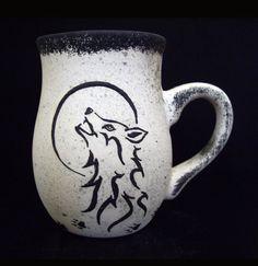 https://www.etsy.com/treasury/MjEwNDUxMjl8MjcyNDc4Mjg2NA/welcome-to-the-jungle?index=10=treasury_search_uid=  Wolf Mug  Coffee Cup  Full Moon  Handmade  Cup by RobinHarley64, $17.95 Funny Cups, Wolf Moon, Coffee Cups, Tea Cups, Tea Bowls, Ceramic Mugs, Stoneware, Cuppa Tea, Kitchenware