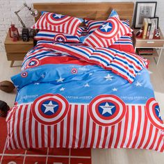 Now Available at our Store: Be A Hero Captain... You can check it out here! http://www.magicalbeddings.com/products/be-a-hero-captain-america-100-cotton-bedding?utm_campaign=social_autopilot&utm_source=pin&utm_medium=pin