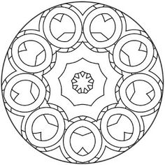 This beginners Mandala coloring sheet is a fun design and easy to color. Mandala 29 coloring page can be decorated online with the interactive . Mandala Design, Geometric Mandala, Zentangle Patterns, Mandala Pattern, Embroidery Patterns, Zentangles, Mandala Coloring Pages, Coloring Book Pages, Ornament Template