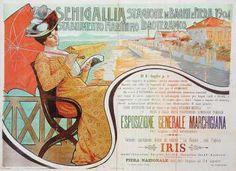Un vecchio manifesto sponsorizzante lo Stabilimento Marittimo ed Idroterapico di Senigallia (Stagione di Bagni & Fiera Nazionale del 1904).  [bagni.jpg (357×259)]