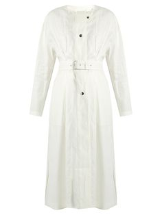 Click here to buy Isabel Marant Ivo collarless linen coat at MATCHESFASHION.COM