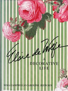 [Elsie de Wolfe] Campbell, Nina. Elsie de Wolfe, A Decorative Life. First Edition. 1992. Book and dust jacket are both in very good condition. Elsie de Wolfe was one of the great tastemakers of the last century. She is said to have invented the career of modern interior decoration. Not everyone agrees on this second point, but it is certainly true that she was the first in the profession to recognize the tremendous advantage of self-promotion. That does not diminish the quality of her work…