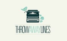 The Throwaway Lines logo uses a retro-modern illustrative style, paired with clean type to form an iconic and memorable mark. A vintage typewriter is used as the base to build the mark around, and a little bird is perched to add a fun detail.