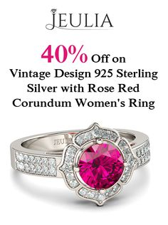 At Jeulia.com, you can get 40% discount on Vintage Design 925 Sterling SIlver With Rose Red Corundum Womens Ring. This offer is currently activated on the site.  For more #Jeulia #Coupon #Codesvisit http://www.couponcutcode.com/stores/jeulia/