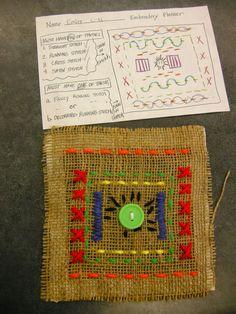 Zilker Elementary Art Class: 4th Grade Sewing