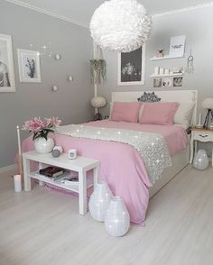 ✔ 52 inspiring teen girl bedroom decor ideas 30 in 2019 home Bedroom Decor For Teen Girls, Cute Bedroom Ideas, Cute Room Decor, Girl Bedroom Designs, Teen Room Decor, Teen Bedroom, Teenage Bedrooms, Master Bedroom, Nursery Ideas