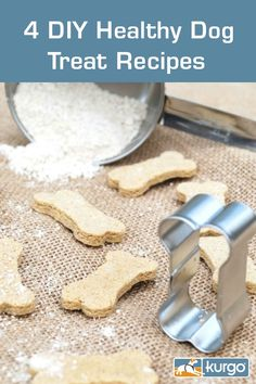 Melissa Gunderson of Proud Dog Mom recently shared 4 healthy DIY dog treat recipes with us. Check out how easy these are to make. They are also packed with nourishing ingredients your dog will love! (Photo credits: Proud Dog Mom) Diy Dog Treats, Homemade Dog Treats, Dog Treat Recipes, Dog Cakes, Dog Biscuits, Great Recipes, Dog Mom, Animal Food, Healthy