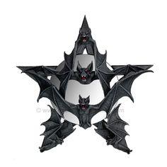 vampire bat pentagram gothic mirror by anne stokes 49 99 vampire bat Tattoo 1 Dark Home Decor, Goth Home Decor, Pentacle, Gothic Mirror, Gothic Furniture, Black Furniture, Horror Decor, Vampire Bat, Tatoo Art