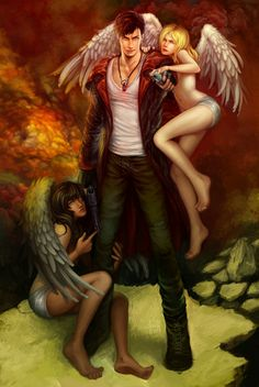 """Ebony, Ivory, I've missed you girls."" New Dante in all his awesome glory. DmC: Ebony and Ivory Image Icon, 5 Image, Miss You Girl, Dante Devil May Cry, Dmc 5, Game Character, Online Art Gallery, Game Art, Crying"