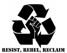Resist, Rebel, Reclaim stencil template
