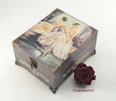 Ballerina box, ballerina jewelry box, ballerina gift, ballet gift, decoupage jewelry box, art box, gift for her, trinket box, treasury box by PastimeArt on Etsy