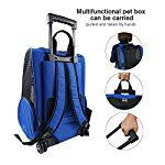Pet Travel Rolling Luggage Carrier Bag Backpack for DogsCats & small animals(Blue)