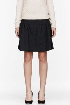 #ssense.com               #Skirt                    #Chloe #Black #Dahlia #Embossed #Skirt #women #SSENSE                         Chloe Black Dahlia Embossed Skirt for women | SSENSE                                                    http://www.seapai.com/product.aspx?PID=667883