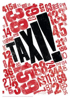 "Kitching ""TAXI!"" type poster"