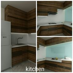 Compact kitchen with semi open