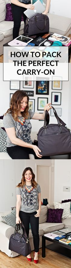 A must-read for summer travelers! How to pack the perfect carry-on | @halliekwilson