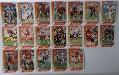 1991 Pacific San Francisco 49ers Team Set of 19 Football Cards #SanFrancisco49ers